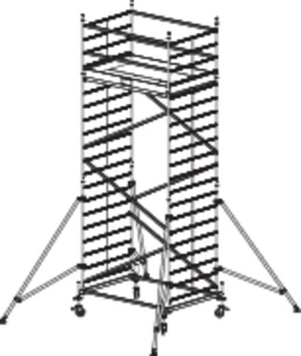 Krause 911148 Fahrgerüst Breitaufbau Aluminium max. Arbeithöhe 6.30 m