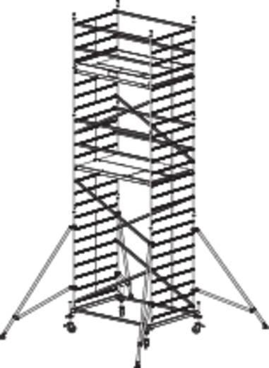 Aluminium Gerüst fahrbar Arbeitshöhe (max.): 7.30 m Krause ProTec XXL 911155 Silber 201 kg