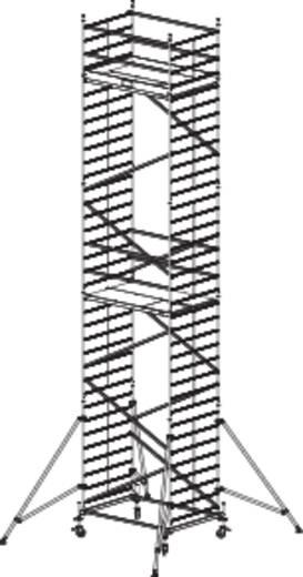 Aluminium Gerüst fahrbar Arbeitshöhe (max.): 10.30 m Krause ProTec XXL 911186 Silber 231 kg