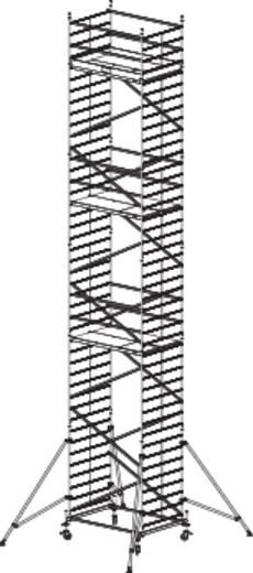 Aluminium Gerüst fahrbar Arbeitshöhe (max.): 12.30 m Krause ProTec XXL 911209 Silber 283 kg