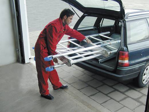 Aluminium Gerüst klappbar, fahrbar Arbeitshöhe (max.): 4.80 m Krause ProTec XS 920027 Silber 98 kg