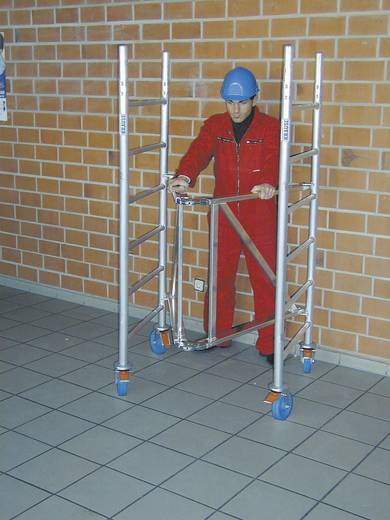 Aluminium Gerüst klappbar, fahrbar Arbeitshöhe (max.): 8.80 m Krause ProTec XS 920065 Silber 176 kg
