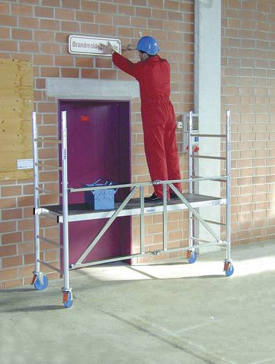 aluminium ger st klappbar fahrbar arbeitsh he max m krause protec xs 920027 silber 98 kg. Black Bedroom Furniture Sets. Home Design Ideas