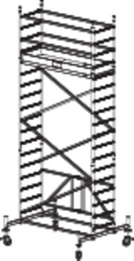 Aluminium Gerüst klappbar, fahrbar Arbeitshöhe (max.): 5.80 m Krause ProTec XS 920034 Silber 106 kg