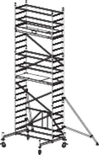 Aluminium Gerüst klappbar, fahrbar Arbeitshöhe (max.): 6.80 m Krause ProTec XS 920041 Silber 146 kg
