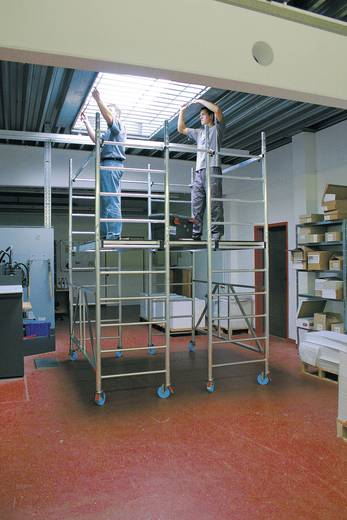 Aluminium Gerüst fahrbar Arbeitshöhe (max.): 3.70 m Krause ProTec XS-P 920218 Silber 102 kg