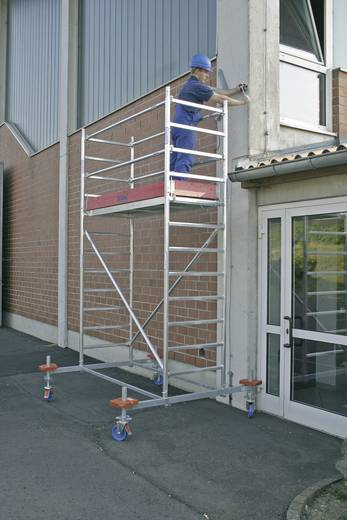 Aluminium Gerüst fahrbar Arbeitshöhe (max.): 14.40 m Krause STABILO Professional Serie 10 741417 Silber 297 kg