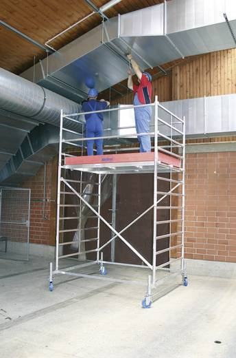 Aluminium Gerüst fahrbar Arbeitshöhe (max.): 14.40 m Krause STABILO Professional Serie 50 745316 Silber 413 kg