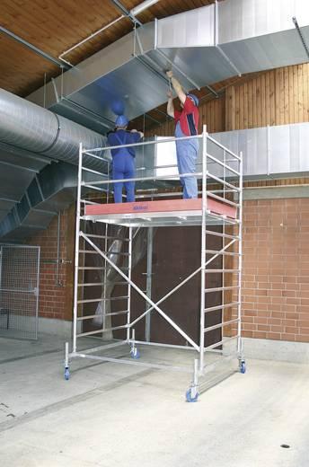 Aluminium Gerüst fahrbar Arbeitshöhe (max.): 4.40 m Krause STABILO Professional Serie 50 735218 Silber 133 kg