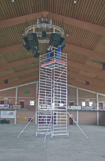 Aluminium Gerüst fahrbar Arbeitshöhe (max.): 14.40 m Krause STABILO Professional Serie 50 735317 Silber 371 kg