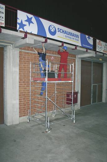 Aluminium Gerüst fahrbar Arbeitshöhe (max.): 4.40 m Krause STABILO Professional Serie 500 735058 Silber 151 kg