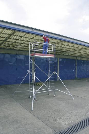 Aluminium Gerüst fahrbar Arbeitshöhe (max.): 5.30 m Krause STABILO Professional Serie 1000 748058 Silber 141 kg