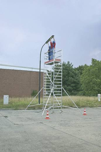 Aluminium Gerüst fahrbar Arbeitshöhe (max.): 10.30 m Krause STABILO Professional Serie 1000 748102 Silber 226 kg
