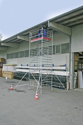Aluminium Gerüst fahrbar Arbeitshöhe (max.): 13.30 m Krause STABILO Professional Serie 5000 749130 Silber 386 kg