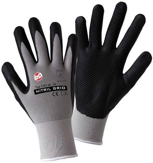 Nylon Arbeitshandschuh Größe (Handschuhe): 10, XL EN 388:2016 CAT II L+D worky NITRIL GRID 1167 1 Paar