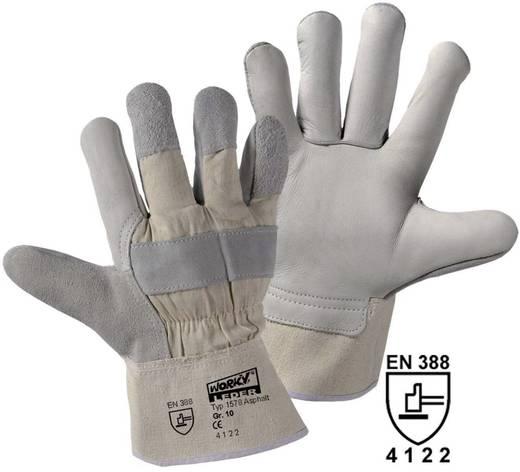 Upixx 1578 Asphalt Rindnarbenleder-Handschuh Rindnarbenleder und Baumwolle Größe (Handschuhe): Universalgröße