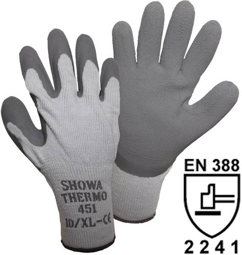 Showa 14904 SHOWA 451 Thermo Strickhandschuh Polyacryl/ Baumwolle/ Polyester mit Latexbeschichtung Größe (Handschuhe): 8, M
