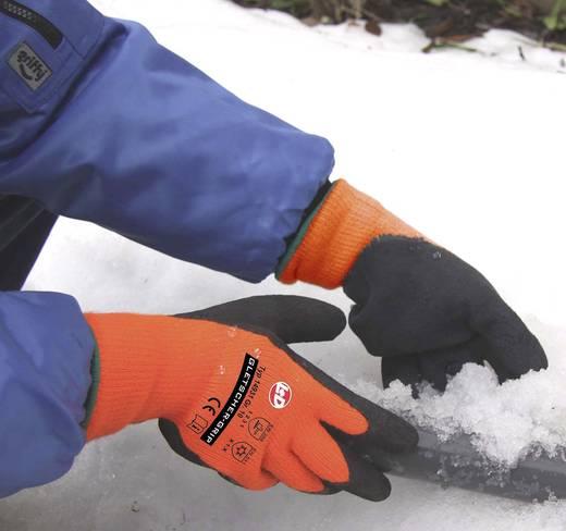 Griffy 14931 Gletscher-Grip Winterstrickhandschuh Neonorange 100% Polyacryl mit Naturlatex-Beschichtung Größe (Handschu