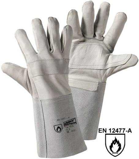 Rindnarbenleder Schweißerhandschuh Größe (Handschuhe): 8, M EN 12477-A , EN 388 , EN 407 CAT II L+D worky RAZZO-jnr. 18