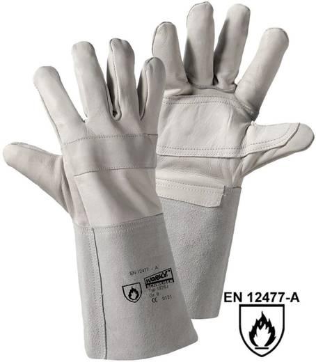 Rindnarbenleder Schweißerhandschuh Größe (Handschuhe): 8, M EN 12477-A , EN 388 , EN 407 CAT II worky RAZZO-jnr. 1826J