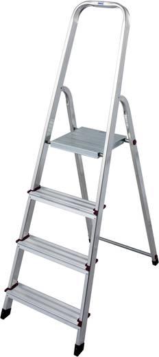 Aluminium Stufen-Stehleiter Arbeitshöhe (max.): 2.80 m Krause 705 Silber 3.6 kg