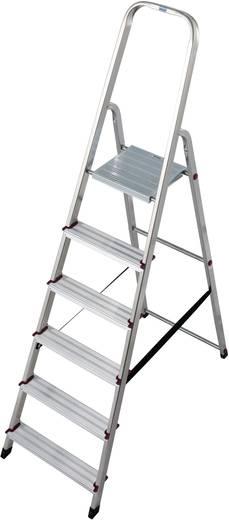 Krause 000736 Aluminium Stufen-Stehleiter Arbeitshöhe (max.): 3.20 m Silber 5 kg