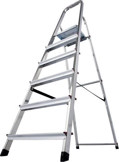 Aluminium Stufen-Stehleiter Arbeitshöhe (max.): 3.20 m Krause 000736 Silber 5 kg