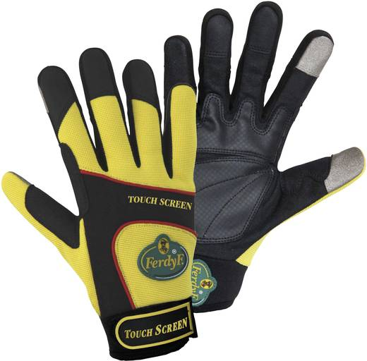 FerdyF. 1912 TOUCH SCREEN Mechanics Handschuh Clarino®-Kunstleder und Elasthan Größe (Handschuhe): 11, XXL