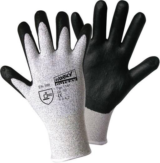 Polyethylen Arbeitshandschuh Größe (Handschuhe): 9, L EN 388 CAT II L+D worky CUTEXX HPPE/carbon-nitrile Foam 1141 1 Pa