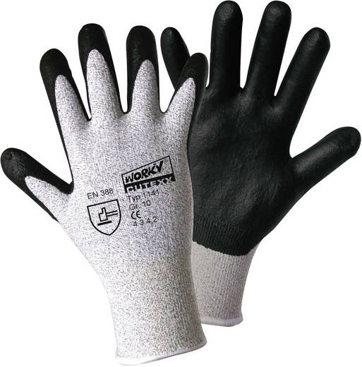 Polyethylen Arbeitshandschuh Größe (Handschuhe): 9, L EN 388 CAT II worky CUTEXX HPPE/carbon-nitrile Foam 1141 1 Paar
