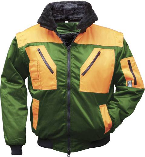 Griffy 42091 4-in-1 Multifunktions-Pilotjacke mit Warneffekt Grün, Orange S