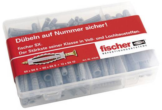 Dübelsortiment Fischer Meister-Box SX-Dübel 41648 132 Teile