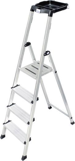 Krause 126542 Aluminium Stufen-Stehleiter Arbeitshöhe (max.): 3.25 m Silber 5.6 kg