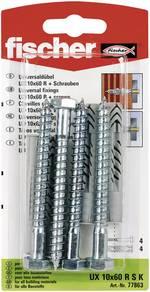 Chevilles universelles UX 10x60 RSK + vis 10 mm Fischer 77863