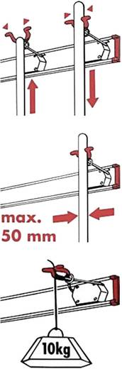 Bruns Gerätehalterleiste 4 Halter + 2 Haken 60457 0.5 m