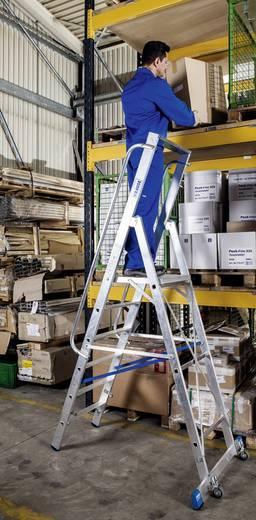 Aluminium Stufen-Stehleiter Arbeitshöhe (max.): 4.35 m Krause 127808 Silber 23.5 kg