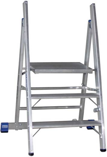 Aluminium Montagetritt klappbar Arbeitshöhe (max.): 2.70 m Krause STABILO Professional 126078 Silber 9.5 kg