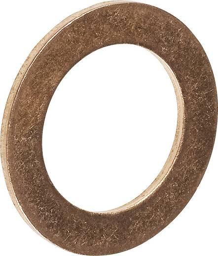 TOOLCRAFT 893850 Dichtring Innen-Durchmesser: 10 mm DIN 7603 Kupfer 100 St.
