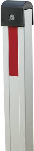 Moravia 114.19.490 SESAM-SPRINT Kipp-Pfosten umlegbar zum Aufdübeln gleichschließend Aluminium eloxiert mit roten Reflex