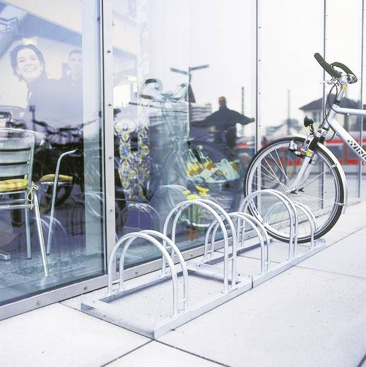 Fahrradständer 4 Plätze 2-seitig Moravia 169.15.104 Stahl Zink-Grau