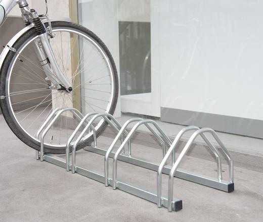 Fahrradständer 4 Plätze 2-seitig, kompakt Moravia 169.15.334 Stahl Zink-Grau