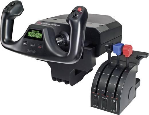 Flugsimulator-Steuerhorn Saitek Système Pro Flight Yoke PZ44 USB PC Schwarz Schraubbefestigung