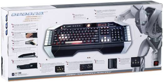 USB-Gaming-Tastatur MadCatz V.7 Beleuchtet, USB-Anschluss, Audio-Anschluss Schwarz