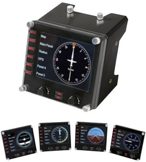 Flugsimulator-Controller Saitek Pro Flight Instrument Panel PZ46 USB PC Schwarz