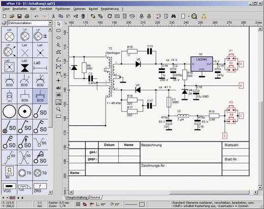 sPlan 7.0 - Schaltplaneditor Vollversion, 1 Lizenz Windows Elektronik
