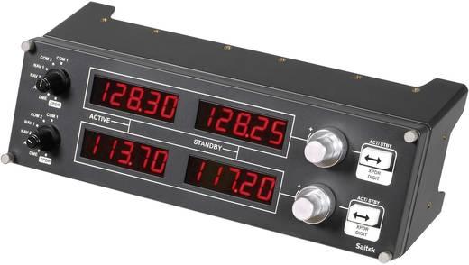 Flugsimulator-Controller Logitech Gaming Saitek Pro Flight Radio Panel PZ69 USB PC Dunkel-Grau