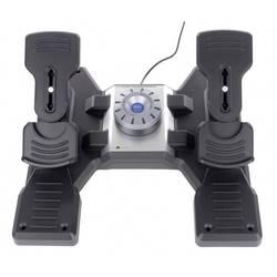 Logitech Gaming Saitek Pro Flight Rudder Pedals PZ35 pedále pre letecký simulátor USB PC čierna