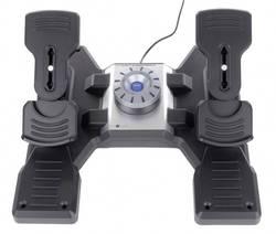 Pedály pro letecký simulátor Logitech Gaming Saitek Pro Flight Rudder Pedals PZ35 USB PC černá