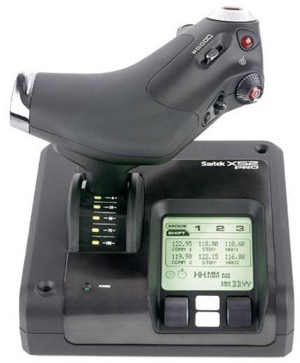 Flugsimulator-Joystick Saitek X52 Pro Flight Control System USB Schwarz