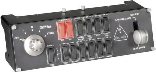 Flugsimulator-Controller Saitek Pro Flight Switch Panel PZ55 USB PC Schwarz
